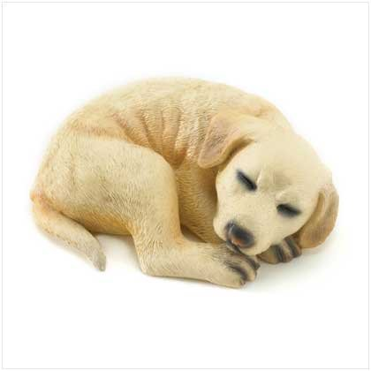 White Lab Puppy Figurine