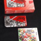 Super Smash Bros 3DS XL RED Limited Edition Console w/Smash Bros Game