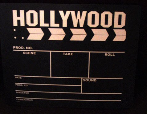 Director's clapboard mouse pad