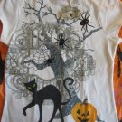 HALLOWEEN TEE SHIRTGirls M 7/8 Cat spiders pumpkins NWT