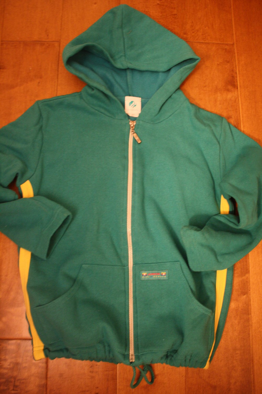 Girl Scout JUNIOR Hoodie Sweat Jacket S Green NEW