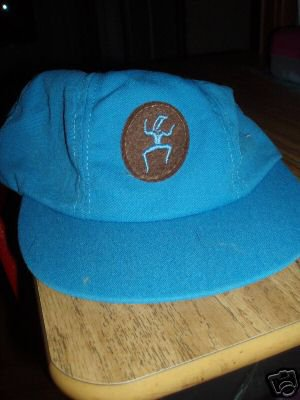 VTG BROWNIE GIRLS SCOUT CAP HAT Blue Cookie Hat RARE! O/S SM