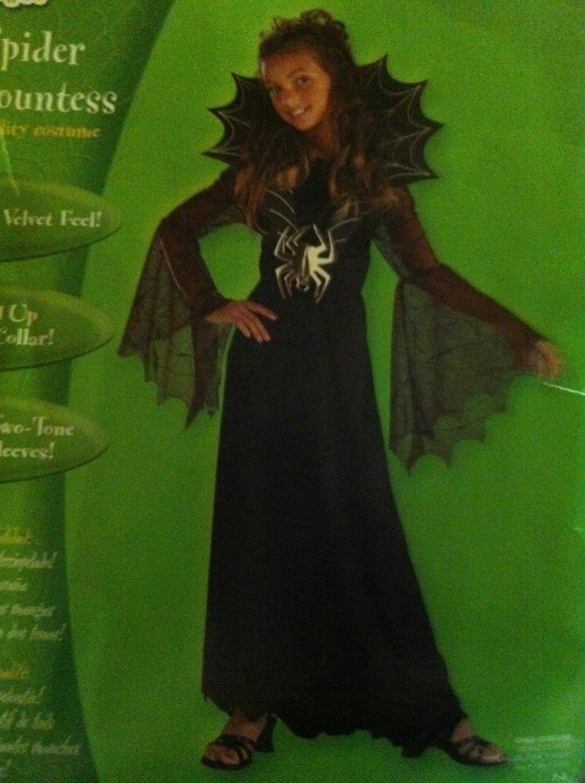 SPIDER COUNTESS COSTUME Spiderella Vampire Girls 7/8 Halloween