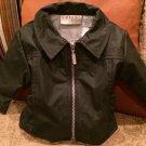 Baby Biker Jacket VTG BIKER Baby BELUGA NY Black Motorcycle Jacket