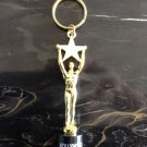 HOLLYWOOD MOVIE AWARD TROPHY KEY CHAIN