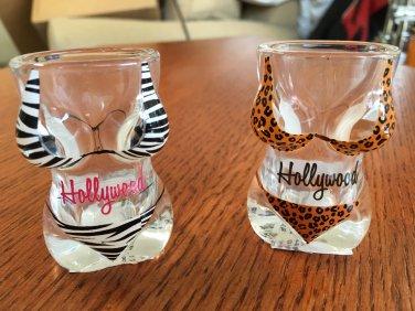 HOLLYWOOD BIKINI SHOT GLASS set of 2