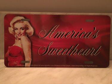 Americas Sweetheart MARILYN MONROE LICENSE PLATE