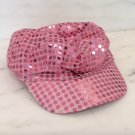 Pink SEQUIN 70s Costume CAP HAT