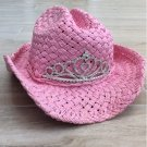 Pink PRINCESS CROWN COWGIRL HAT Western