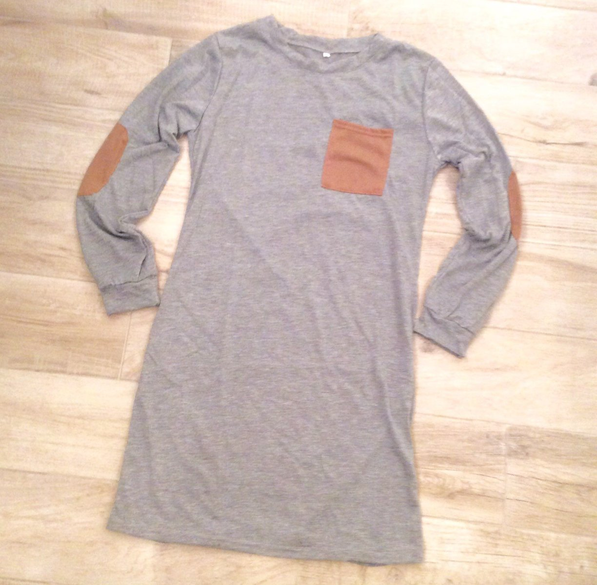 BOHO TSHIRT DRESS Heather Grey S
