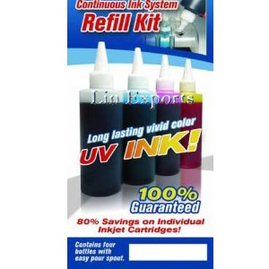4*120ml Refill UV dye ink for Epson D78 D92 SX200 SX400 DX7400 DX8400 DX9400 BX600F 71N FREE S&H!!!