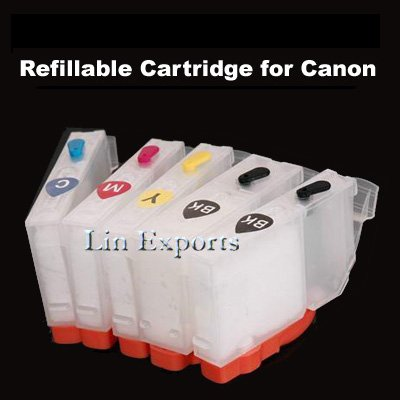 Refillable Cartridges for Canon Pixma IP3600 IP3680 IP4600 IP4680 MP540 MP620 MP630 MP638 Free S/H!