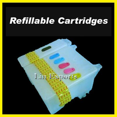 Refillable Cartridges for Epson Stylus Photo 780 790 800C 825 870 875DC  880C 890 895 915 FREE S&H!!