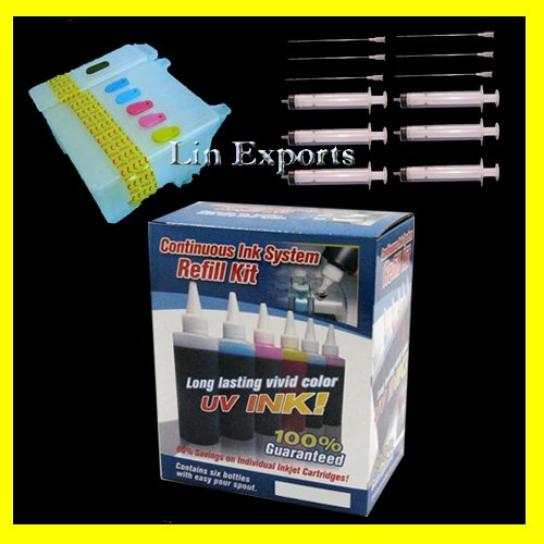UV Ink Refillable Cartridges for Epson 780 790 800C 825 870 875DC  880C 890 895 915 FREE S&H!!!