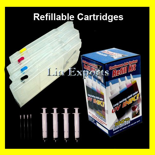 XL Refillable Carts UV Ink  Package for Brother LC10 LC37 LC51 LC57 LC960 LC970 LC1000 FREE S&H!