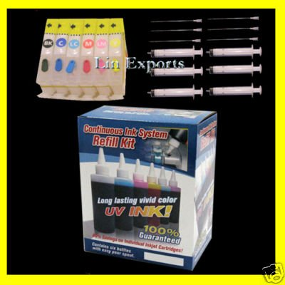 UV Ink Refillable Cartridges Package for Canon S900 ip6000 i950 i9100 BCI-6 FREE S&H!!!