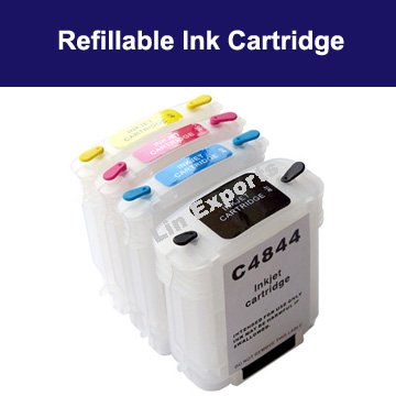 Refillable Cartridges for HP 10 82 HP Design Jet  500 500ps 800 800ps 815mfp (HP10 82) FREE S&H!!!