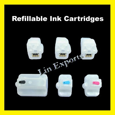 Refillable Cartridges for HP 02 (HP02) C8721 C8771 C8772 C8773 C8774 C8775 FREE S&H!!