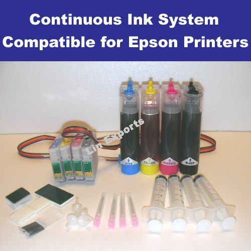 UV INK CIS System for Epson S200 SX400 DX4050 SX600FW BX600FW (T0711, T0712, T0713, T0714)