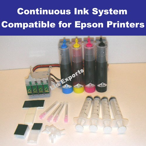 UV INK CIS System for Epson  WorkForce 30 40 50 500 600 NX200 NX300 NX400 (T0691 - T0694)