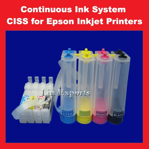 Bulk Ink System for Epson C51 C91 CX4300 T26 TX106 TX109 FREE S/H WORLDWIDE!!!