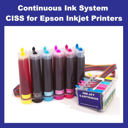 UV INK CIS System for Epson R270 R290 R295 R390 RX590 RX610 RX615 RX690 1410 (T0821-T0826)