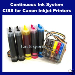 Pigment + UV INK CIS for Canon iP4200 iP4300 iP5200 MP530 MP610 MP800 MP830 ARC Chips - FREE S/H!!!