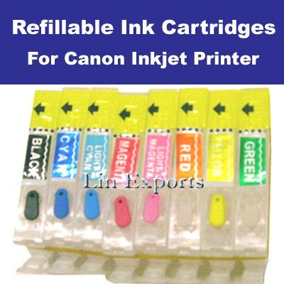 Refillable Cartridges Canon PIXMA Pro9000 ARC Chips CLI-8 BK/C/M/Y/PC/PM/R/G FREE S/H WORLDWIDE!!!