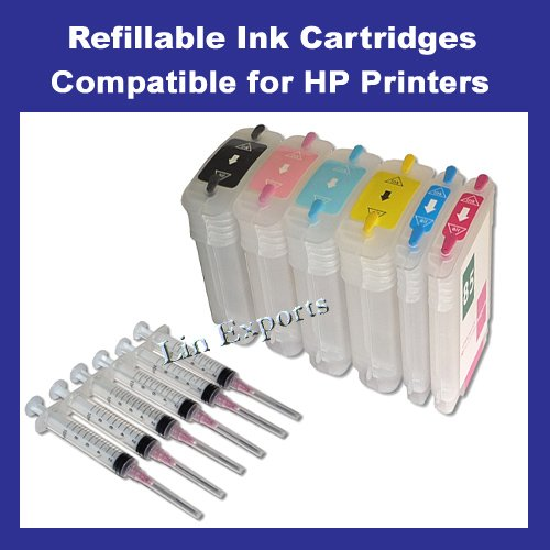 Refillable Cartridges for HP 84 85 HP DesignJet 130 30 90 Free Shipping Worldwide!!