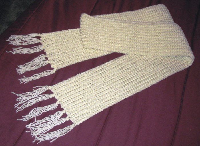 WINTER SCARF IN ARAN HANDMADE CROCHET CROCHETED