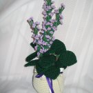 LILACS FLORAL FLOWER ARRANGEMENT HANDMADE CROCHET CROCHETED