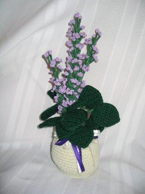 LILACS FLORAL FLOWER ARRANGEMENT HANDMADE CROCHET CROCHETED