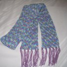 WINTER SCARF IN VARIEGATED MONET HANDMADE CROCHET CROCHETED