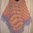WOMEN'S PONCHO HANDMADE CROCHET CROCHETED IN BABY SOFT YARN