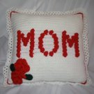 MOTHER'S DAY ROSE PILLOW HANDMADE CROCHET CROCHETED