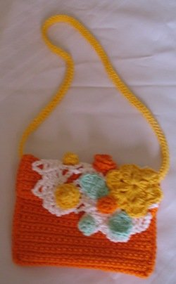 SPRINGTIME CLUTCH PURSE HANDMADE CROCHET CROCHETED