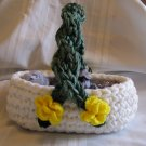 DECORATIVE HANDMADE BASKET CROCHET CROCHETED