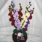DECORATIVE FLOWER FLORAL ARRANGEMENT HANDMADE CROCHET CROCHETED