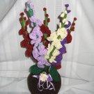 DECORATIVE FLOWER FLORAL ARRANGEMENT HANDMADE CROCHET CROCHETED