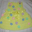 FLORAL BABY SUNDRESS HANDMADE CROCHET CROCHETED