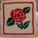 WALL PICTURE HANDMADE CROCHET CROCHETED ROSE