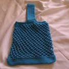 MESH STYLE CROCHETED BAG HANDMADE CROCHET IN HOT BLUE