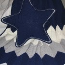 AFGHAN & STAR PILLOW CROCHETED IN COWBOY'S COLORS HANDMADE