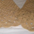SHELL SKIRT W/MATCHING SCARF HANDMADE CROCHET CROCHETED