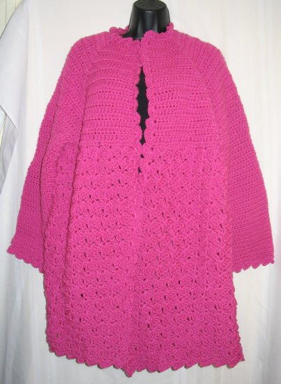 LIGHT FUCHSIA HANDMADE SWEATER