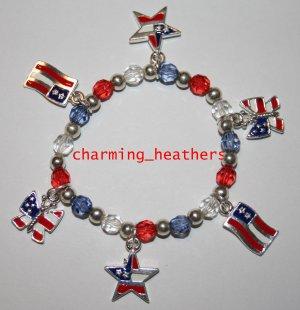New patriotic flag bracelet