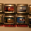 LOT OF 8 ASSORTED LIGHTHOUSE ITALIAN CHARMS
