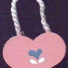 Hanging Heart Pink / Blue - Wooden Miniature