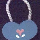 Hanging Heart Blue / Pink - Wooden Miniature