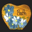 Bath Heart - Blue - Wooden Miniature